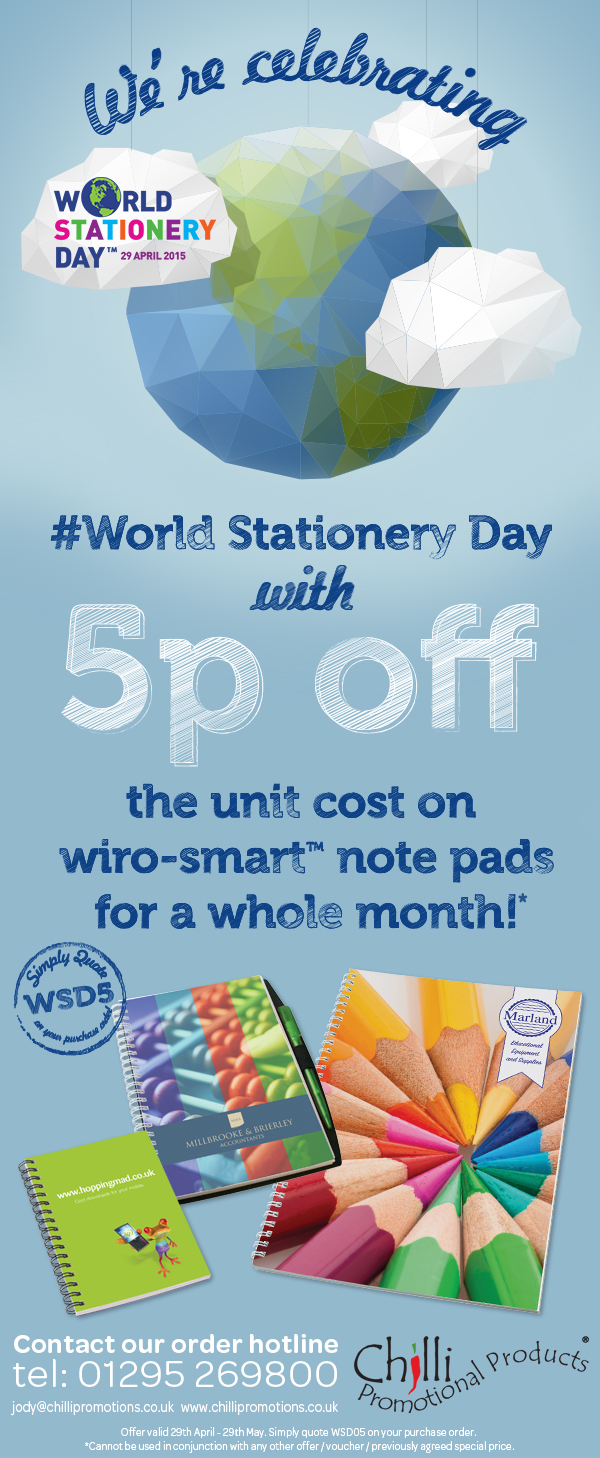 World Stationery Day Special Offer Image
