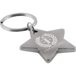 Metal Star Shaped Keyring